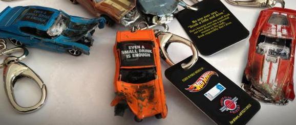 Llaveros personalizados que advierten contra manejar ebrio!